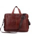 Фотография Удобная мужская мягкая коричневая сумка 77162C