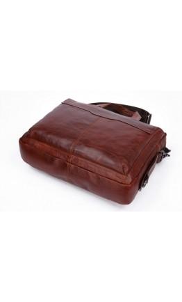Удобная мужская мягкая коричневая сумка 77162C
