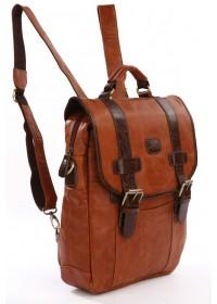 Модный молодежный рюкзак из натуральной кожи 77163