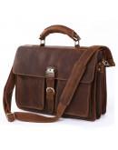 Фотография Большой брутальный кожаный мужской портфель 77164r