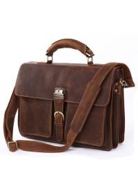 Большой брутальный кожаный мужской портфель 77164r