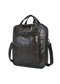 Вместительная мужская сумка - рюкзак серого цвета 77168J