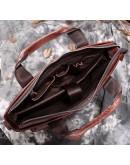 Фотография Кожаная коричневая мягкая мужская сумка 77177C