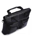 Фотография Кожаная черная мягкая мужская сумка 77177A