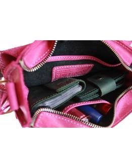 Маленькая женская кожаная сумка розового цвета 71825W-SKE