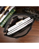 Фотография Черная кожаная мужская деловая сумка 77185A