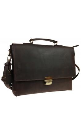 Коричневая сумка - портфель на защелке с удобной ручкой 718555-SKE