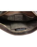 Фотография Коричневая сумка - портфель на защелке с удобной ручкой 718555-SKE