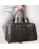 Фотография Большая спортивная, дорожная, повседневная кожаная сумка 77190J