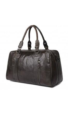 Большая спортивная, дорожная, повседневная кожаная сумка 77190J