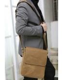Фотография Добротная мужская сумка на плечо из кожи лошади 77192