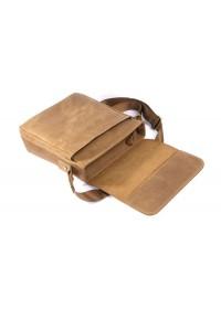 Добротная мужская сумка на плечо из кожи лошади 77192