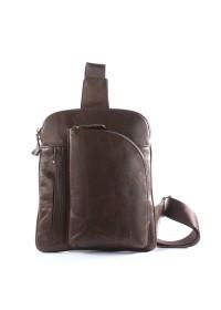 Кожаный коричневый рюкзак на моношлейке 77194c