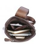 Фотография Кожаный коричневый рюкзак на моношлейке 77194c