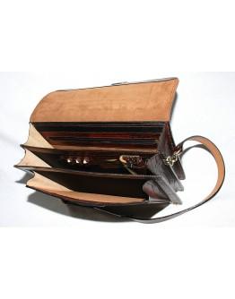 Коричневый портфель из прочной кожи Manufatto 71-rvm
