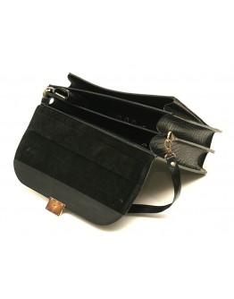 Черный портфель из рифленой кожи черный Manufatto 71-rvm rifl