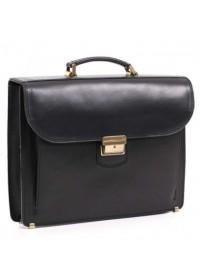 Кожаный черный мужской портфель Manufatto 72-rvm black