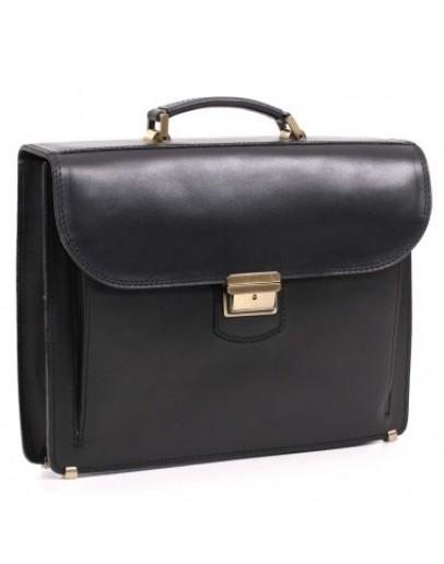 Фотография Кожаный черный мужской портфель Manufatto 72-rvm black