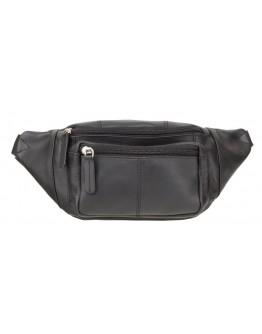 Черная кожаная сумка на пояс Visconti 720 Bumbag (Black)