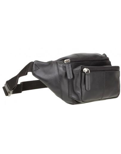 Фотография Черная кожаная сумка на пояс Visconti 720 Bumbag (Black)