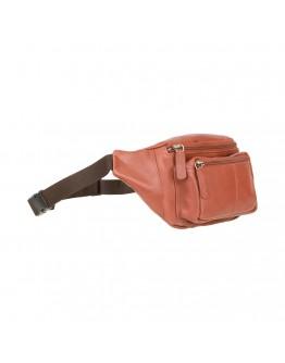 Сумка кожаная на пояс рыжего цвета Visconti 720 Bumbag (Brown)