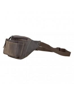 Мужская темно-коричневая кожаная сумка на пояс Visconti 720 Bumbag (Oil Brown)