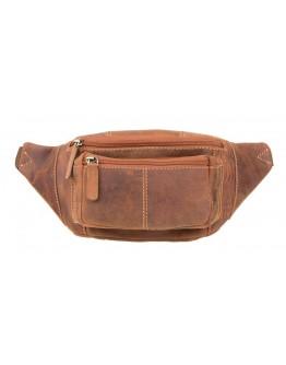 Рыжая кожаная мужская сумка на пояс Visconti 720 Bumbag (Oil Tan)