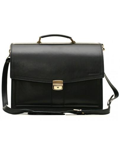Фотография Черный кожаный гладкий портфель Manufatto 720 черный