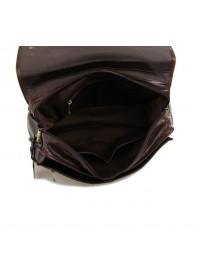 Мужской кожаный портфель богатого коричневого цвета 77200c
