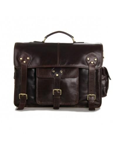 Фотография Мужской кожаный портфель богатого коричневого цвета 77200c