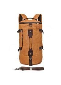 Большая мужская коричневая сумка, рюкзак 72003
