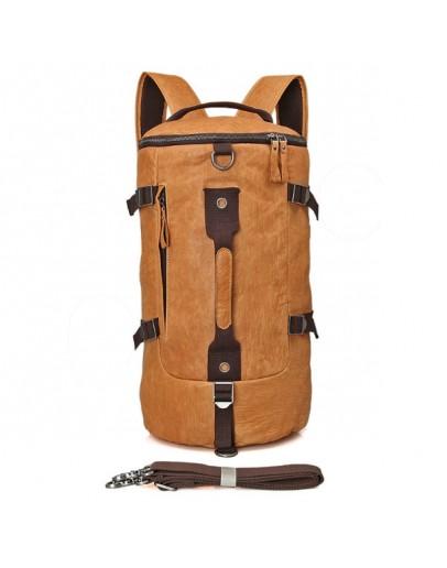 Фотография Большая мужская коричневая сумка, рюкзак 72003