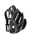 Фотография Кожаный удобный городской черный рюкзак 72005