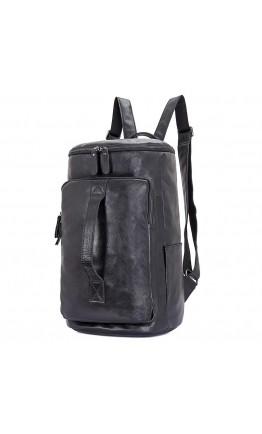 Черный кожаный мужской рюкзак - сумка 72006a