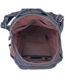 Рюкзак черный мужской кожаный 72010A