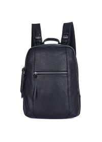 Мужской кожаный рюкзак, черный цвет 72012A