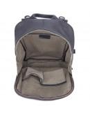 Фотография Мужской кожаный рюкзак, черный цвет 72012A