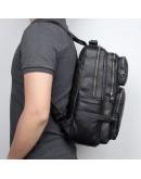 Фотография Черный кожаный рюкзак для мужчин 72030А