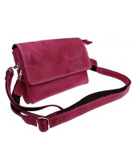 Кожаная женская кожаная сумка - клатч розовая 72032W-SKE