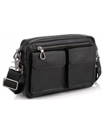 Фотография Мужская горизонтальная кожаная сумка на плечо Tiding Bag 720A