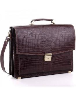 Мужской кожаный портфель Manufatto 720 коричневый