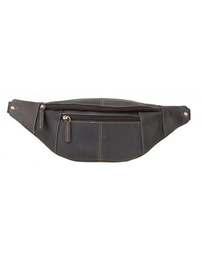Фотография Темно-коричневая сумка на пояс Visconti 721 Bumbag Large (Oil Brown)