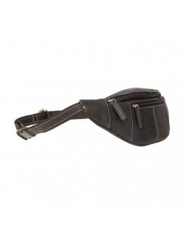 Темно-коричневая сумка на пояс Visconti 721 Bumbag Large (Oil Brown)