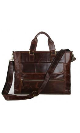 Удобный портфель мужской, сумка из натуральной кожи 77212