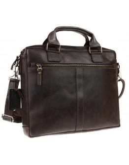 Коричневая кожаная сумка для документов формата A4 72145-SKE