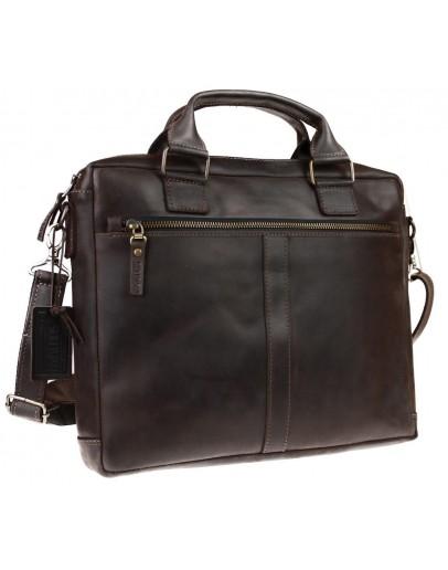 Фотография Коричневая кожаная сумка для документов формата A4 72145-SKE