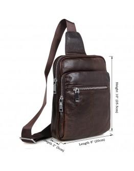 Модный и современный коричневый кожаный рюкзак 77216