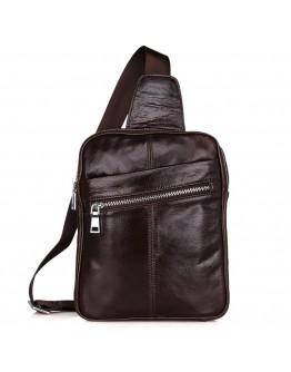 Стильный и современный мужской кожаный рюкзак 77217