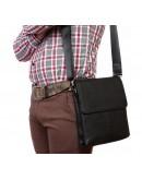 Фотография Классическая сумка мужская на плечо с клапаном 7217