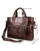 Фотография Шикарный кожаный портфель, мужская сумка для ноутбука 77220C